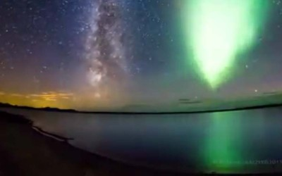Milky Way Being Photobombed by Nature's Fireworks